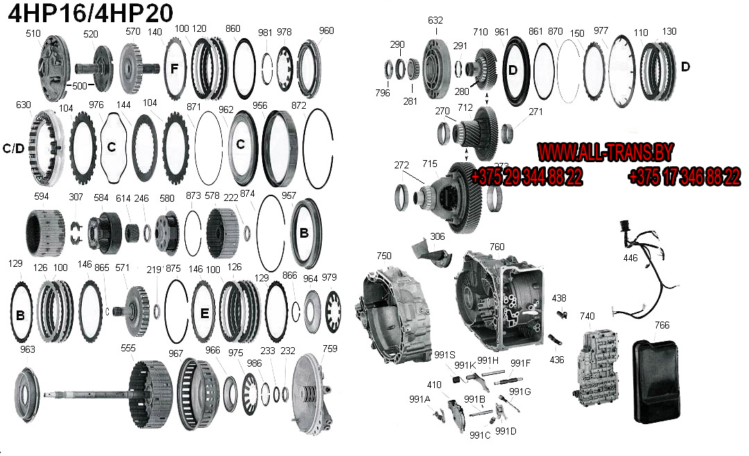 ремкомплект.  ЗАПЧАСТИ ДЛЯ АКПП ZF4HP20 ZF 4HP20. комплект (набор) прокладок и сальников, фрикционный диск...